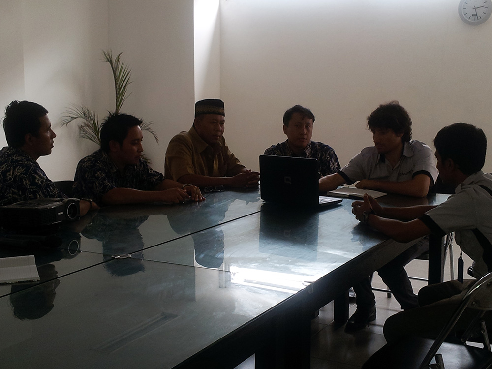 Meeting Between Poltektegal and PT. SAS