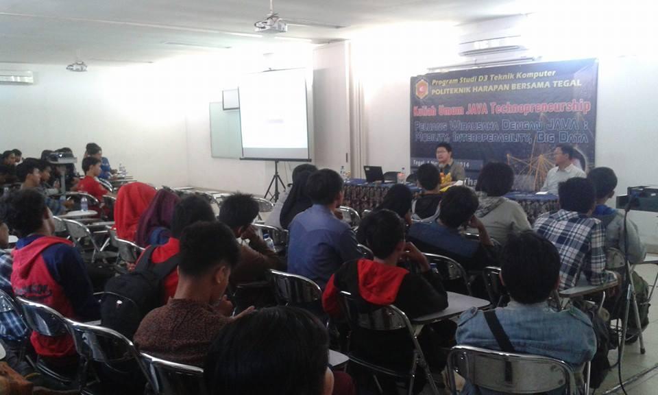 Tingkatkan Kemampuan Java, Poltek Harber Adakan Kuliah Umum Java Technopreneurship