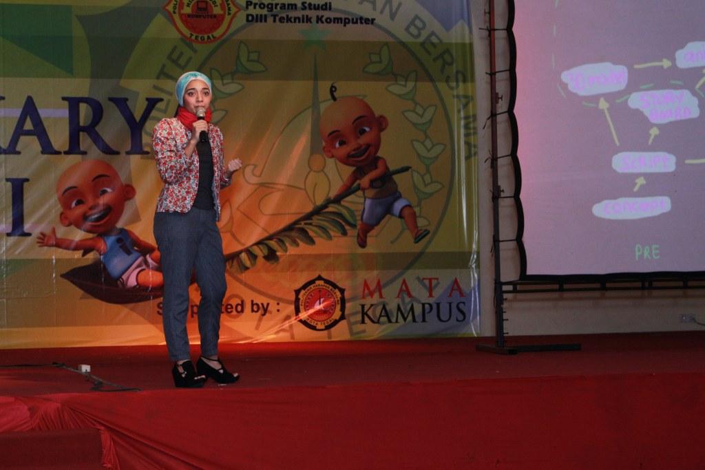 "Seminar Animasi ""Kontinuitas Berkarya, Semangat Berbagi"" Bersama Marsha Chikita Fawzi"