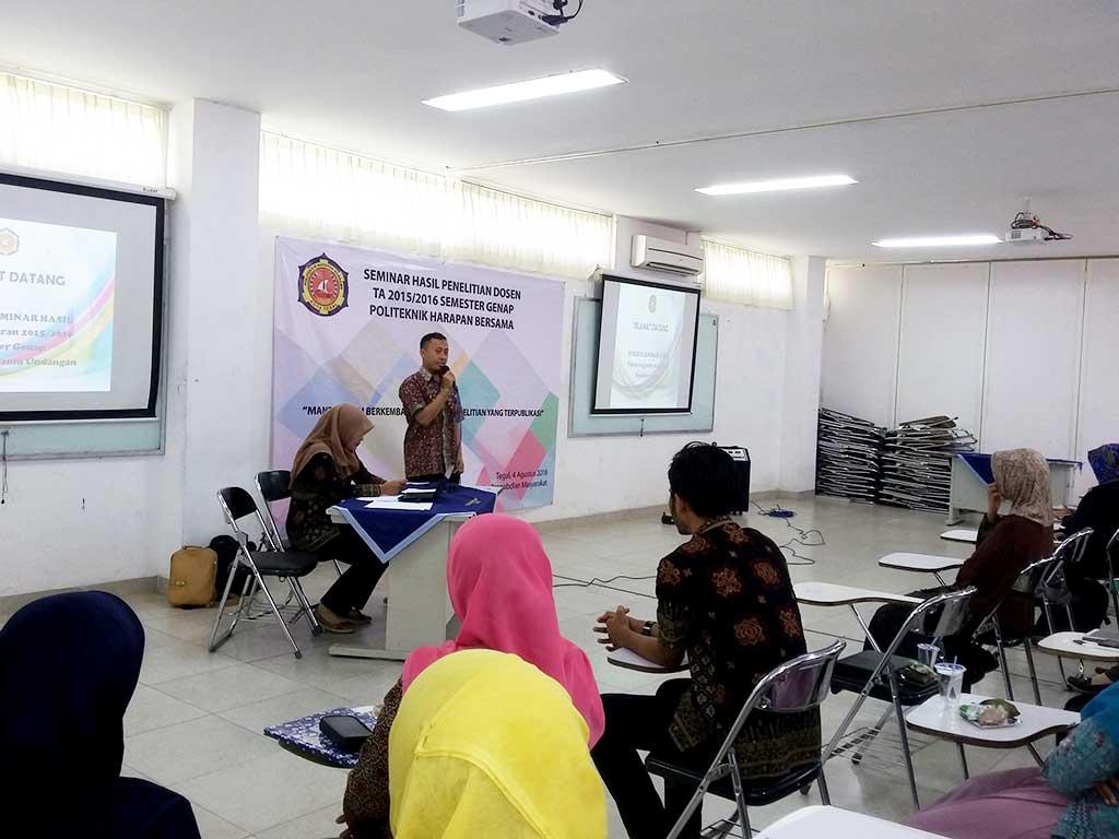 Seminar Hasil Penelitian Dosen Politeknik Tegal