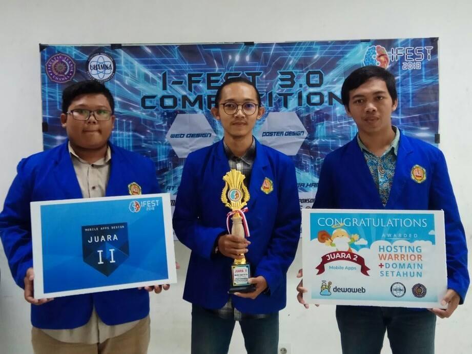 Mahasiswa Teknik Informatika Raih Juara 2 di Event I-Fest 2018