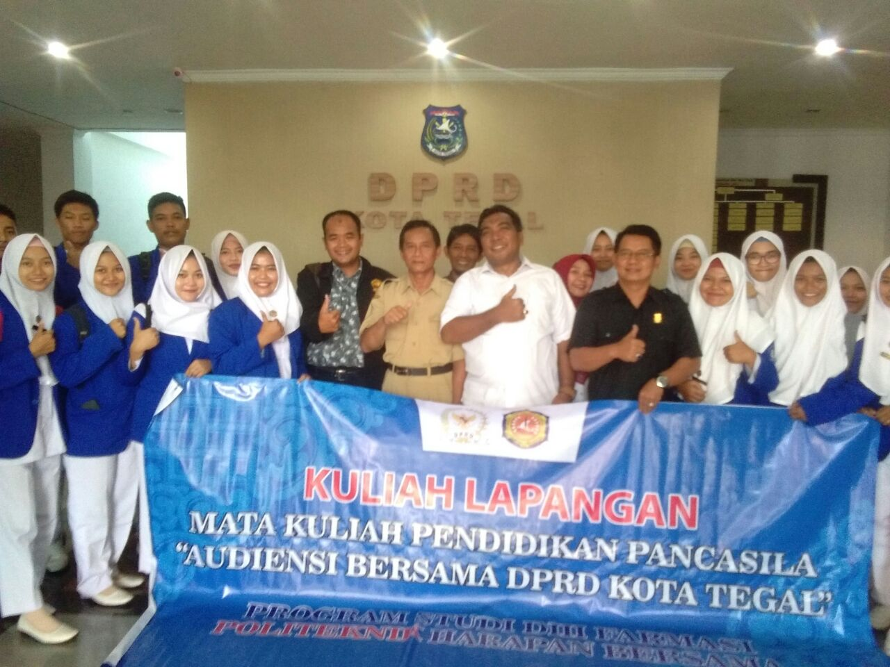 Audiensi Mahasiswa Politeknik Harapan Bersama Tegal Bersama DPRD Kota Tegal