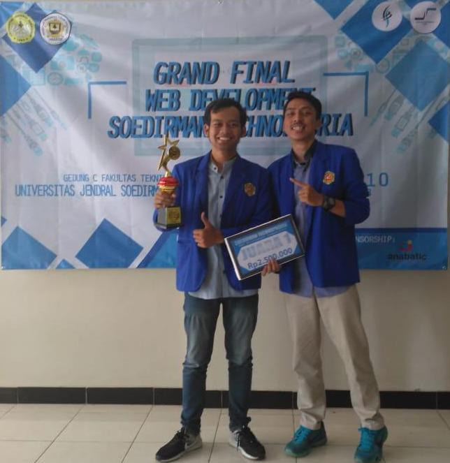 Mahasiswa Teknik Informatika Raih Juara 1 di Event Soedirman Technoporia 2018