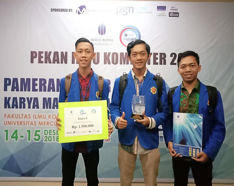 Tim Tawakal Prodi TI Kembali Raih Juara 1 : Kali ini di Event Codig 1.0 Universitas Mercu Buana