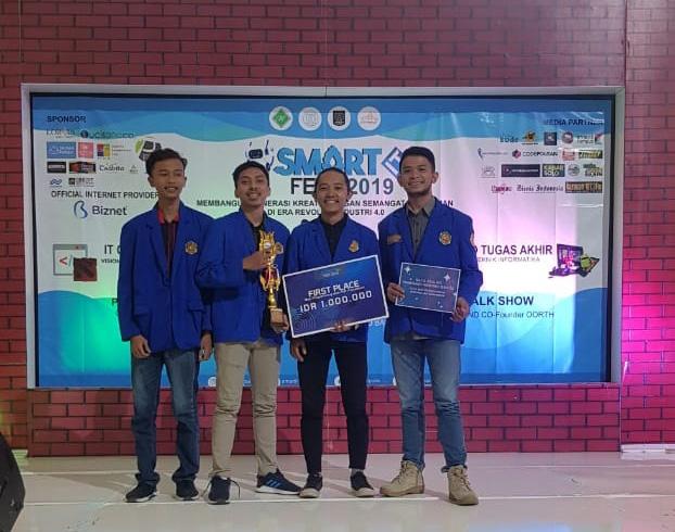 Mahasiswa TI - PHB Kembali Raih Juara I Nasional Web Programming di Event Smart IT-Fest UNS