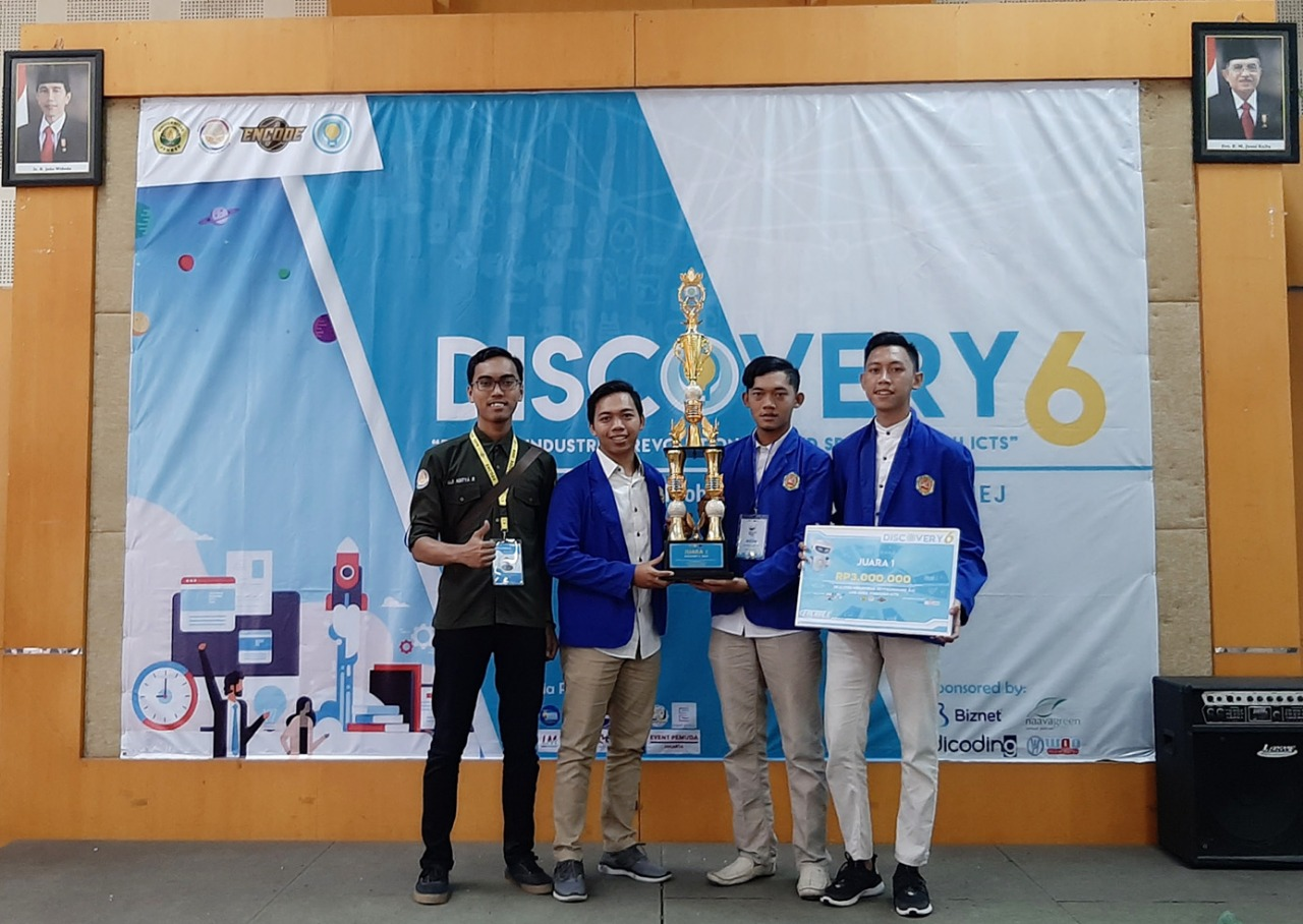 Mahasiswa TI – PHB Kembali Raih Juara I Software Development di Even Encode 2019 - Discovery 6 - Universitas Negeri Jember