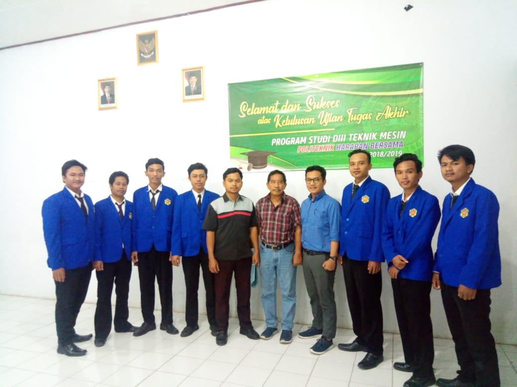 Pelaksanaan Sidang Tugas Akhir Prodi DIII Teknik Mesin (23 Juli 2019)