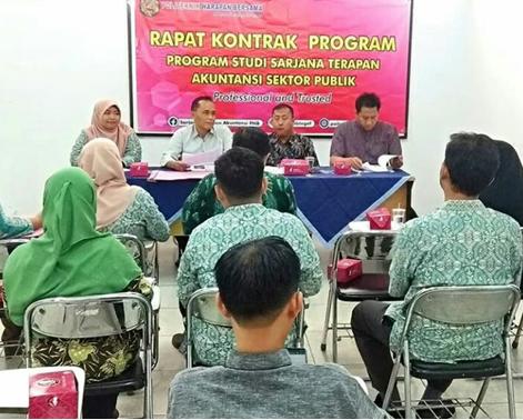 Kontrak Program Semester Genap Tahun Akademik 2019/2020 Prodi Sarjana Terapan Akuntansi Sektor Publik