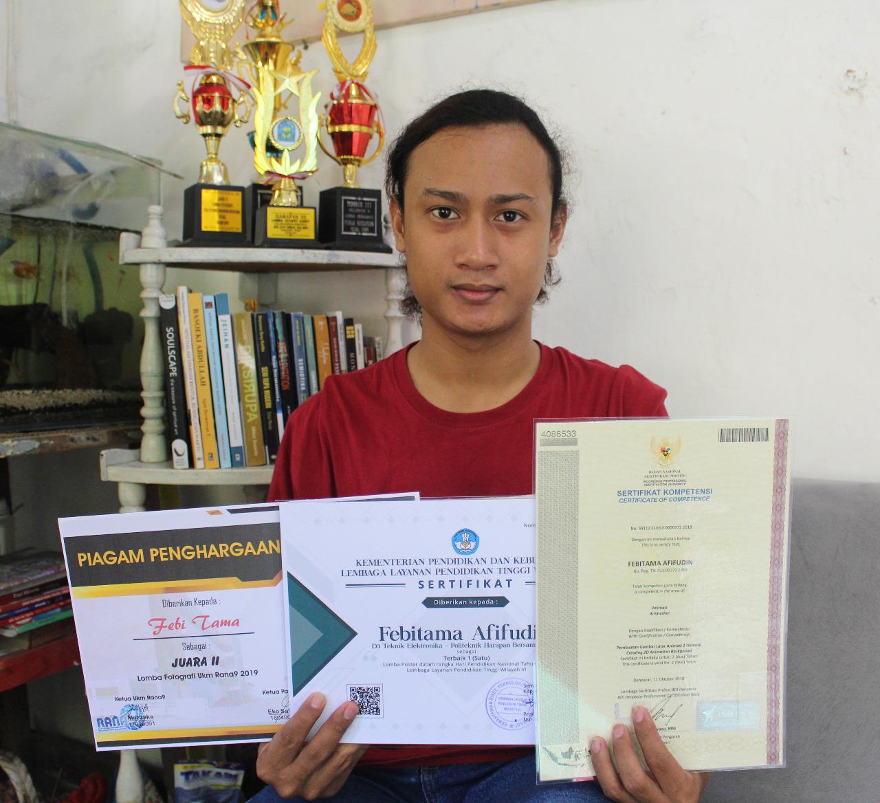 Mahasiswa DKV Politeknik Harapan Bersama Sabet Juara