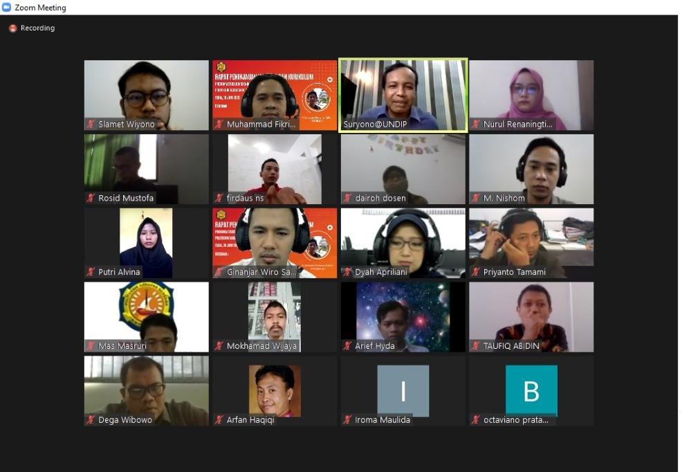 Kecerdasan Buatan Menjadi Perhatian Khusus Bagi Prodi TI Saat Lakukan Review Visi Misi dan Kurikulum Secara Virtual