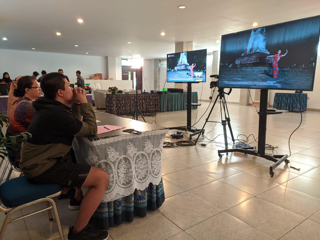 Antusias Pelajar Ikuti Lomba Tari Virtual
